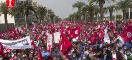 الآلاف من أنصار  النهضة نزلوا لشوارع تونس  من أجل حماية المؤسسات